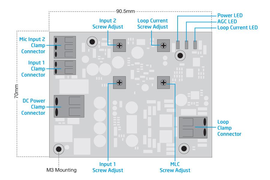 HLS-DM1 Hearing Loop Module