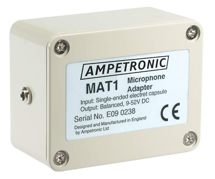 MAT1 Unbalanced to balanced mic adaptor