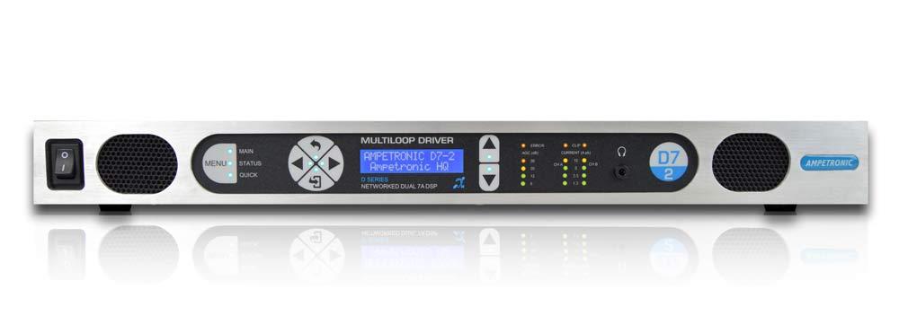 D7-2 Dante – networkable hearing loop driver