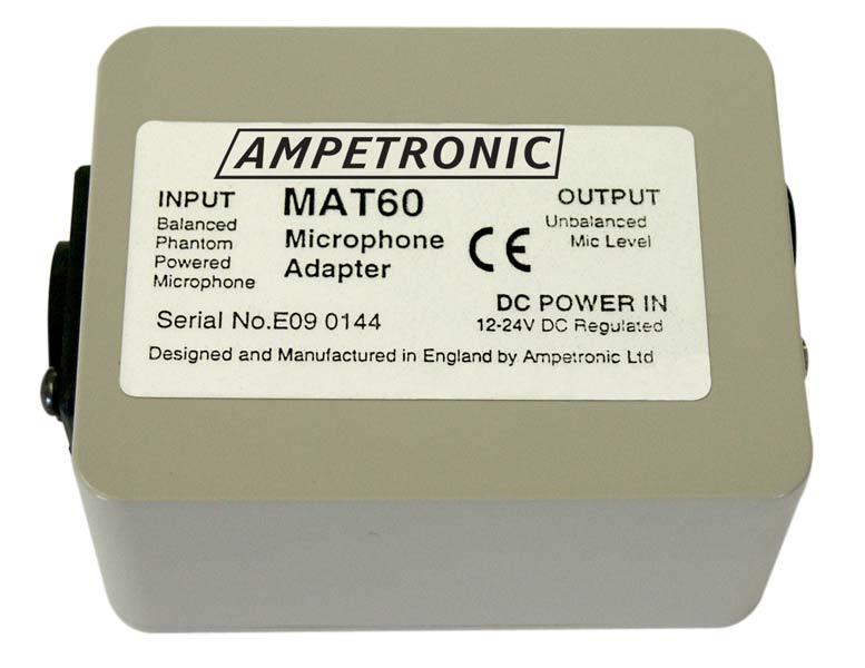 MAT60 Balanced to unbalanced mic adaptor